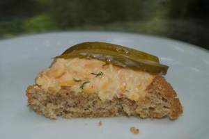 Pimento Cheese & Pickle on Toast
