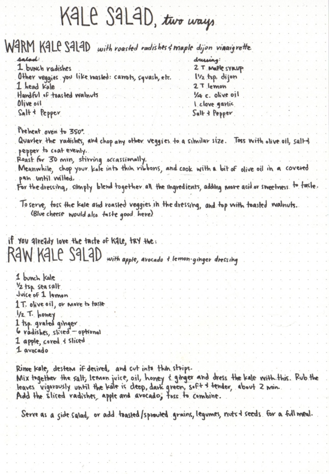 Kale Recipe - Wk 2